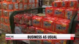 S. Korea′s major retailers see no buying spree   남북긴장 고조에도 ′사재기′ 조짐없어