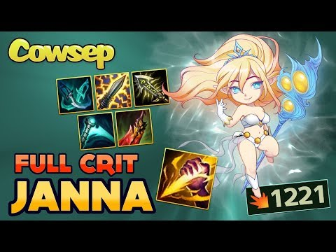 NEW META: FULL CRIT JUNGLE JANNA - WHY DOES THIS EVEN WORK? - Cowsep