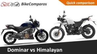 bajaj dominar vs himalayan comparison review