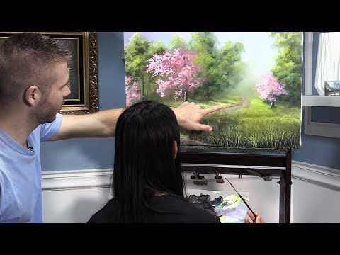 Teaching my Wife to Paint!  | Spring Tree Path thumbnail