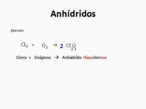 Anhídrido Oxido ácido Ecuación Nomenclatura Youtube