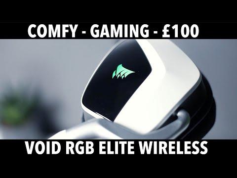 Corsair Void RGB Elite Wireless Review - very COMFORTABLE!