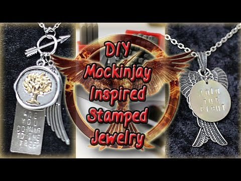 DIY Hunger Games Mockingjay Stamped Jewelry