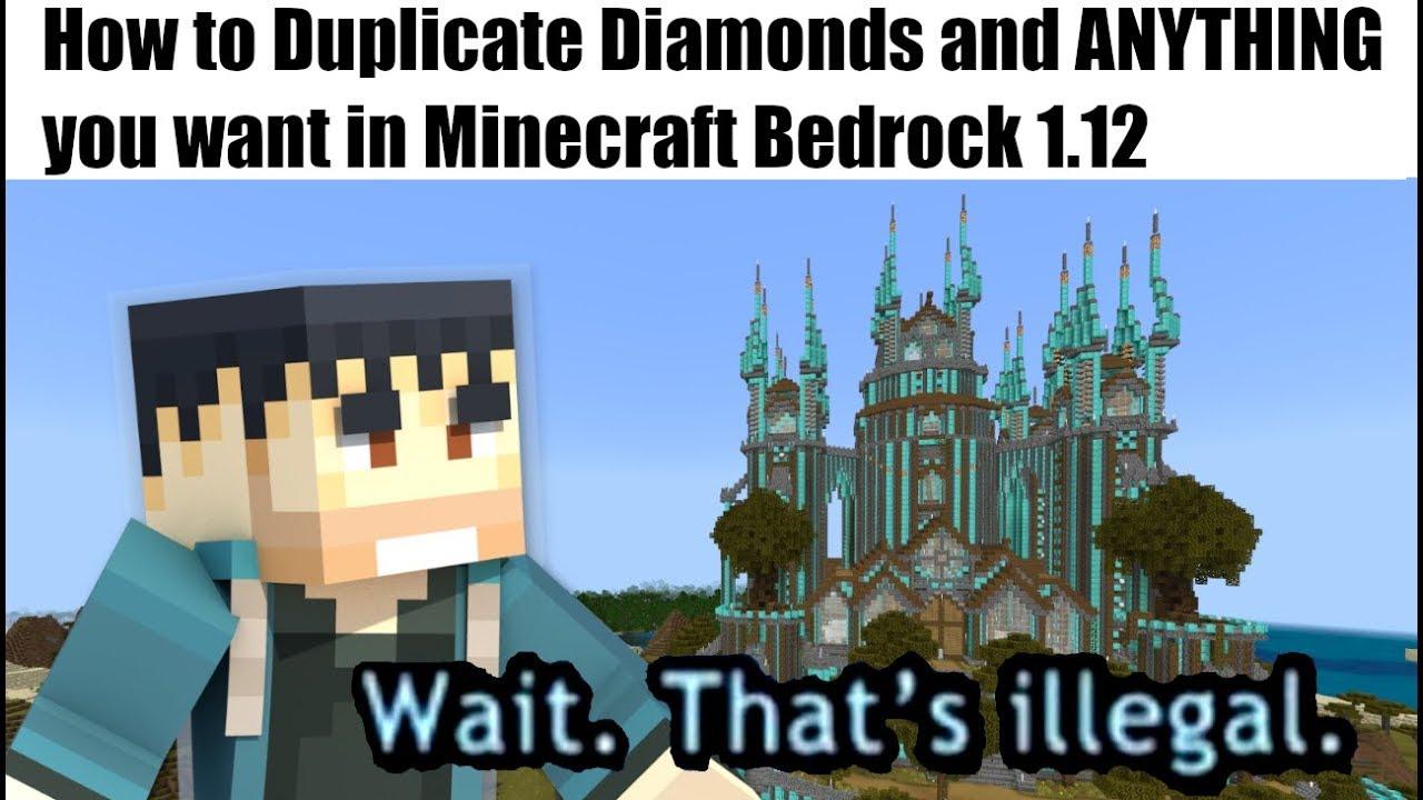 Minecraft Bedrock - 1.12 DUPLICATION GLITCH (2) ( Anything )[Tutorial] MCPE / Xbox / Windows /Switch #1