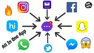 How To Manage Whatsapp, Facebook, Instagram In One Place All In One Messenger App For Android😮🔥