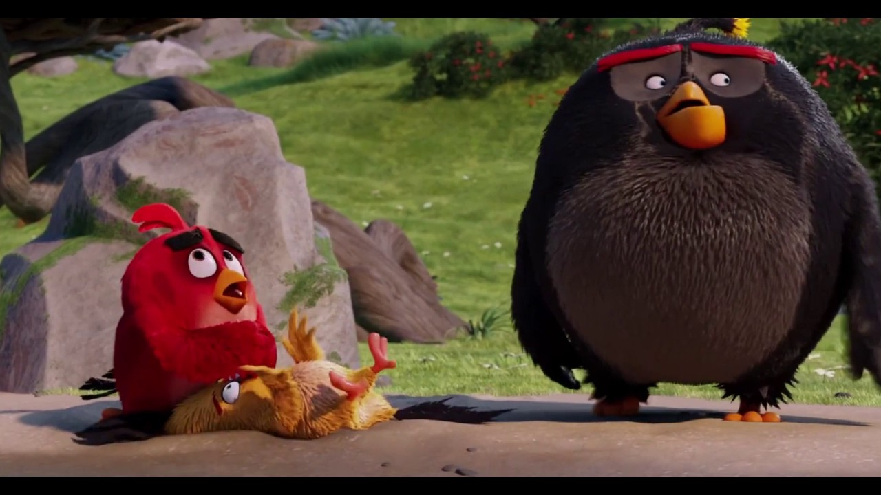 The Angry Birds Movie: Chuck and Bomb Drink From The lake of wisdom