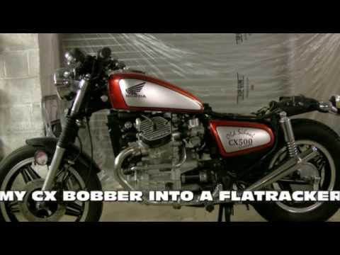 Honda Cx 500 Bobber To Flat Tracker Rebuild