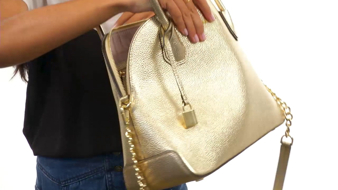 16f451a083a2 MICHAEL Michael Kors Mercer Large Dome Satchel SKU 8954744 - YouTube