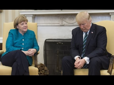 AWKWARD: Baby Trump Will NOT Shake German Chancellor's Hand