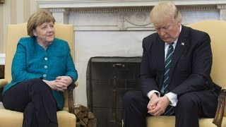 AWKWARD: Baby Trump Will NOT Shake German Chancellor