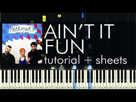 Paramore  Aint It Fun  Piano Tutorial  How to Play + Sheets