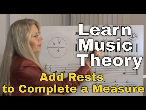 LEARN MUSIC THEORY How to Add Rests to complete a measure