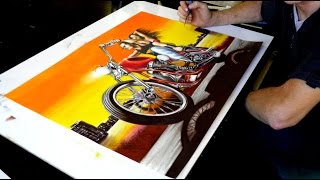 Drawing Harley Devidson (Drawing motorcycle)