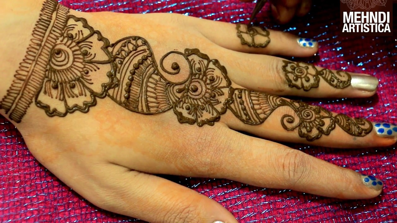 1d54a10855246 Floral Easy Simple Arabic Mehndi Designs For Hands|Beginners Mehendi Step  By Step|MehndiArtistica - YouTube