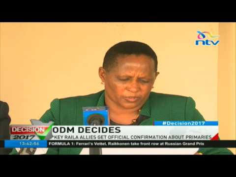 ODM Elections board finalizes primary disputes for Raila allies