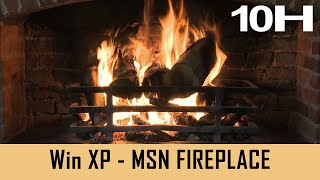 Windows XP Screensaver - MSN Fireplace - 10 HOURS [With Fire Cracking Sound]