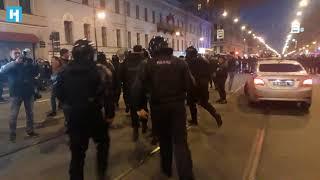 Задержания в Санкт-Петербурге на акции сторонников Навального