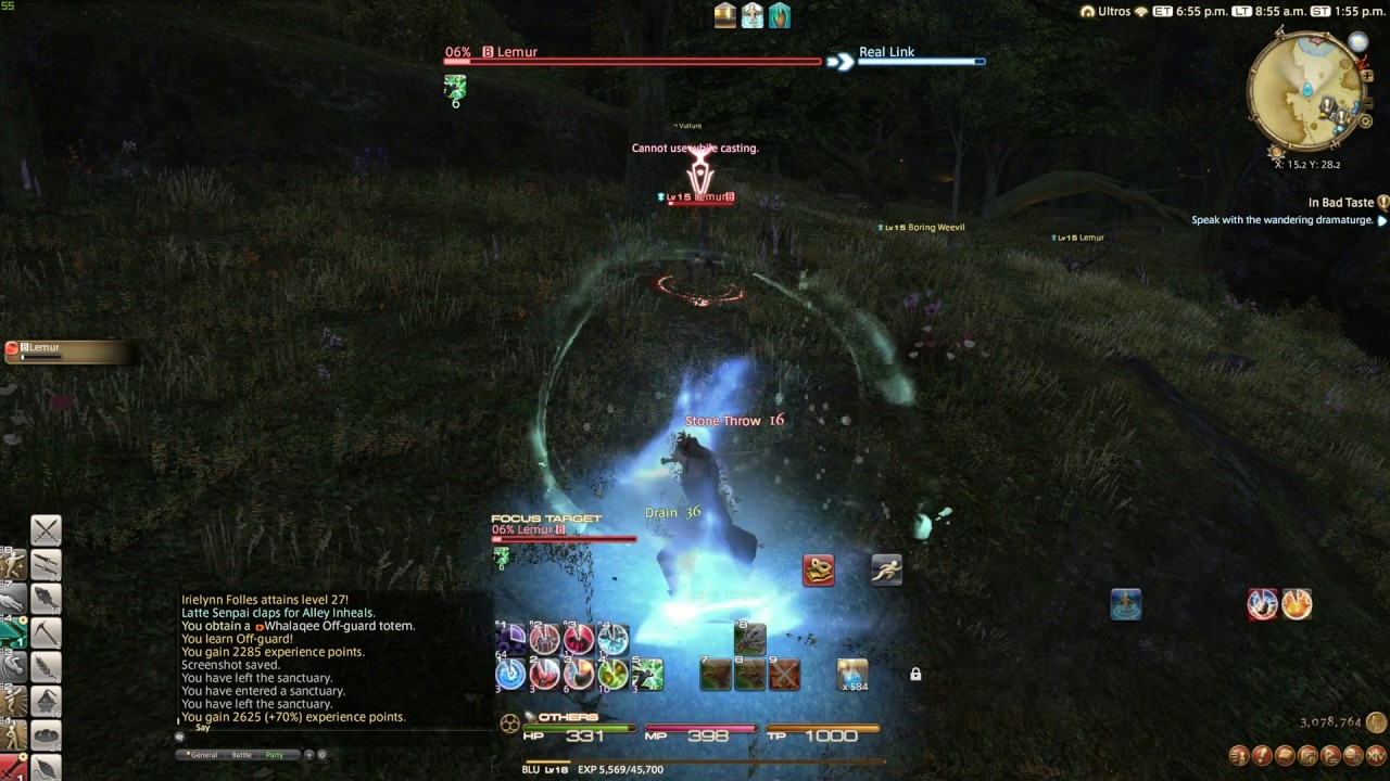 FFXIV Stormblood - Blue Mage Spell - Off-Guard
