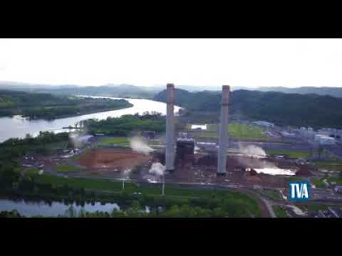 John Sevier Steam Plant smokestacks go down