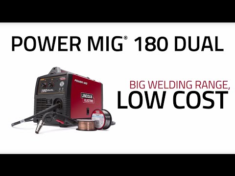 lincoln electric power mig® 180 dual online store youtube