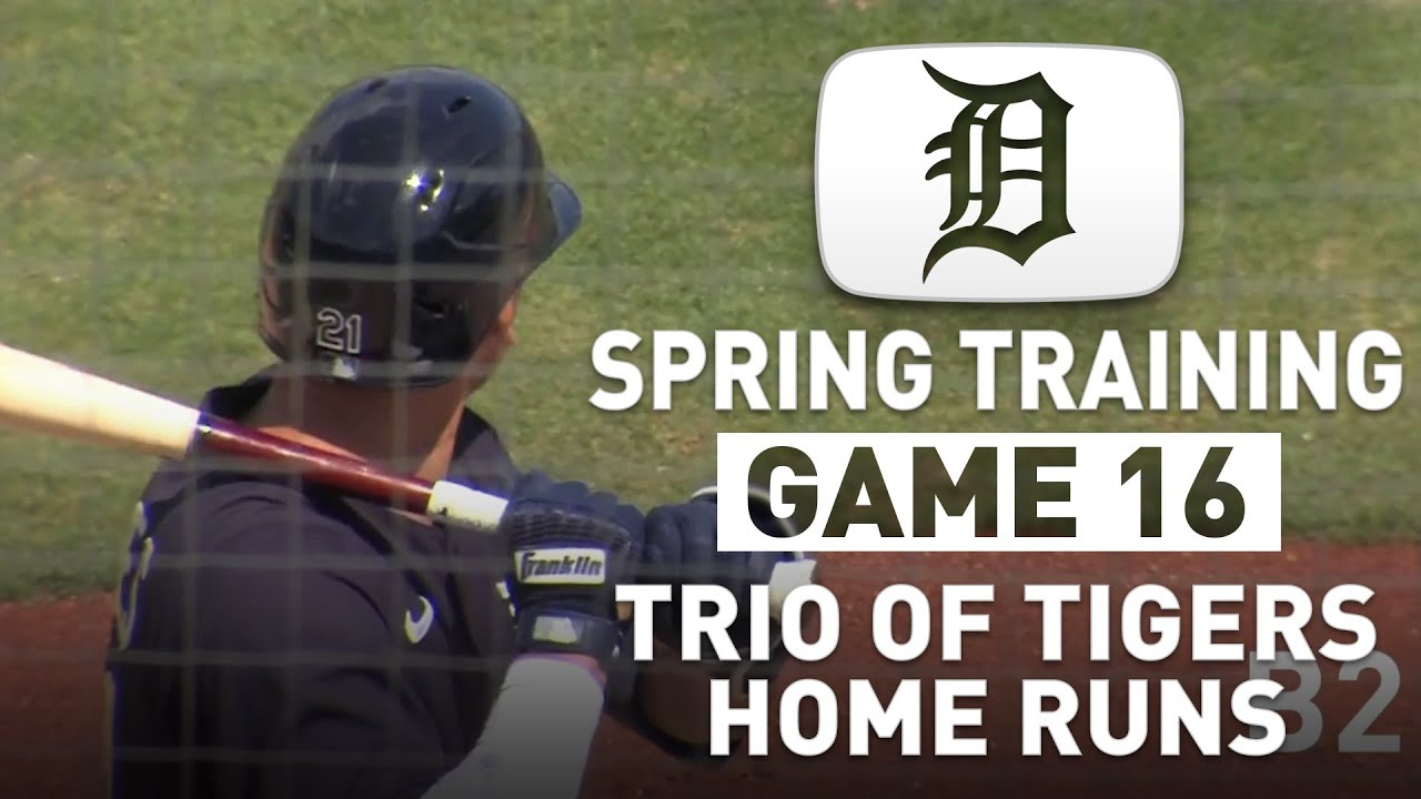 Detroit Tigers Spring Training Game 16 Highlights