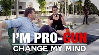 REAL CONVERSATIONS: I'm Pro-Gun | Change My Mind thumbnail