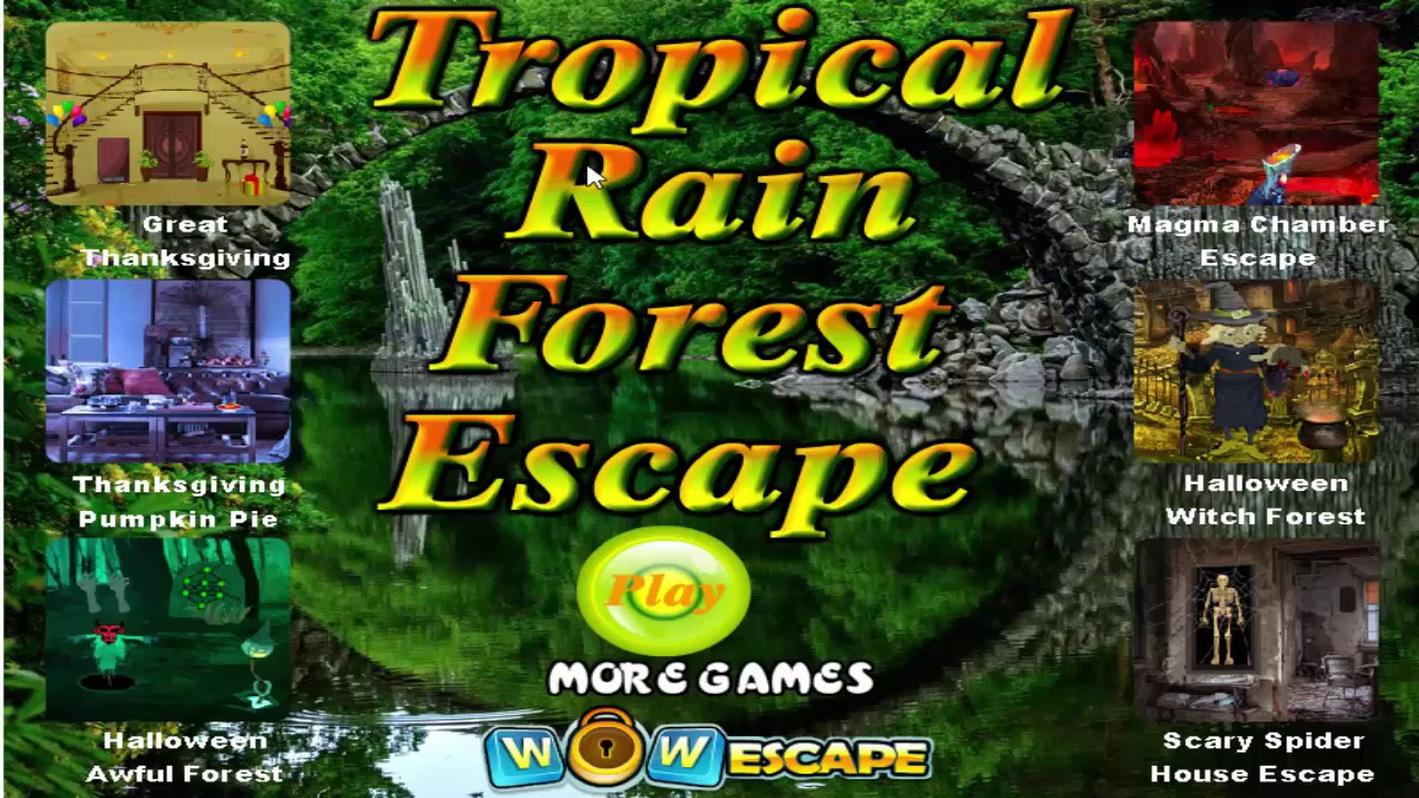 wow tropical rain forest escape walkthrough wowescape. - youtube