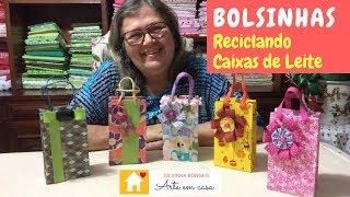 Como criar Bolsas reciclando Caixas de Leite