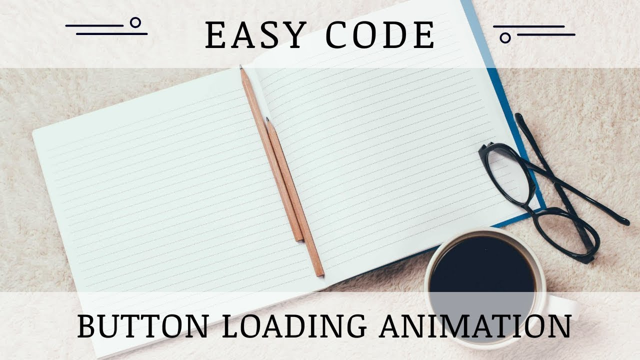 Easy Code | Button loading animation | Html + Css + Font Awesome + Jquery