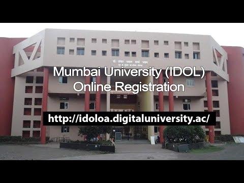 Mumbai University IDOL Registration website 2017 - 2018