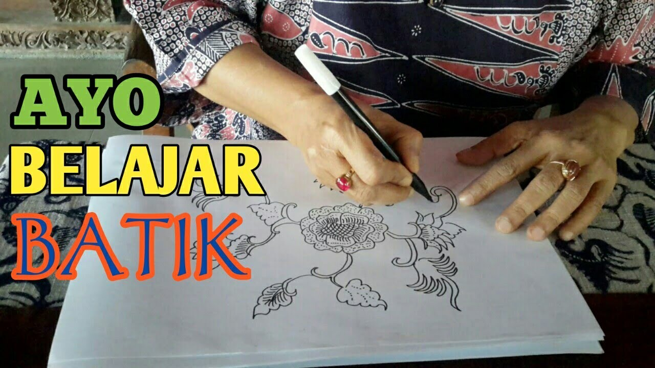 TUTORIAL Membuat Pola Batik Khas Tuban Drawing Batik Art