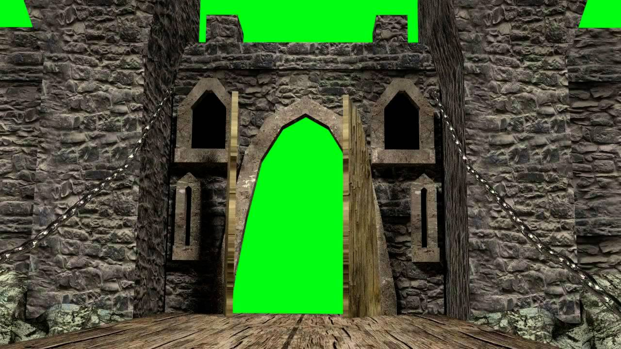 & green screen castle door opening free - YouTube