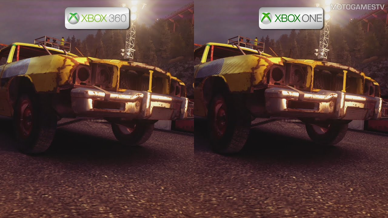 dirt showdown xbox 360 vs xbox one backward. Black Bedroom Furniture Sets. Home Design Ideas