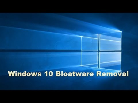 Remove Windows 10 Bloatware and Unwanted Programs