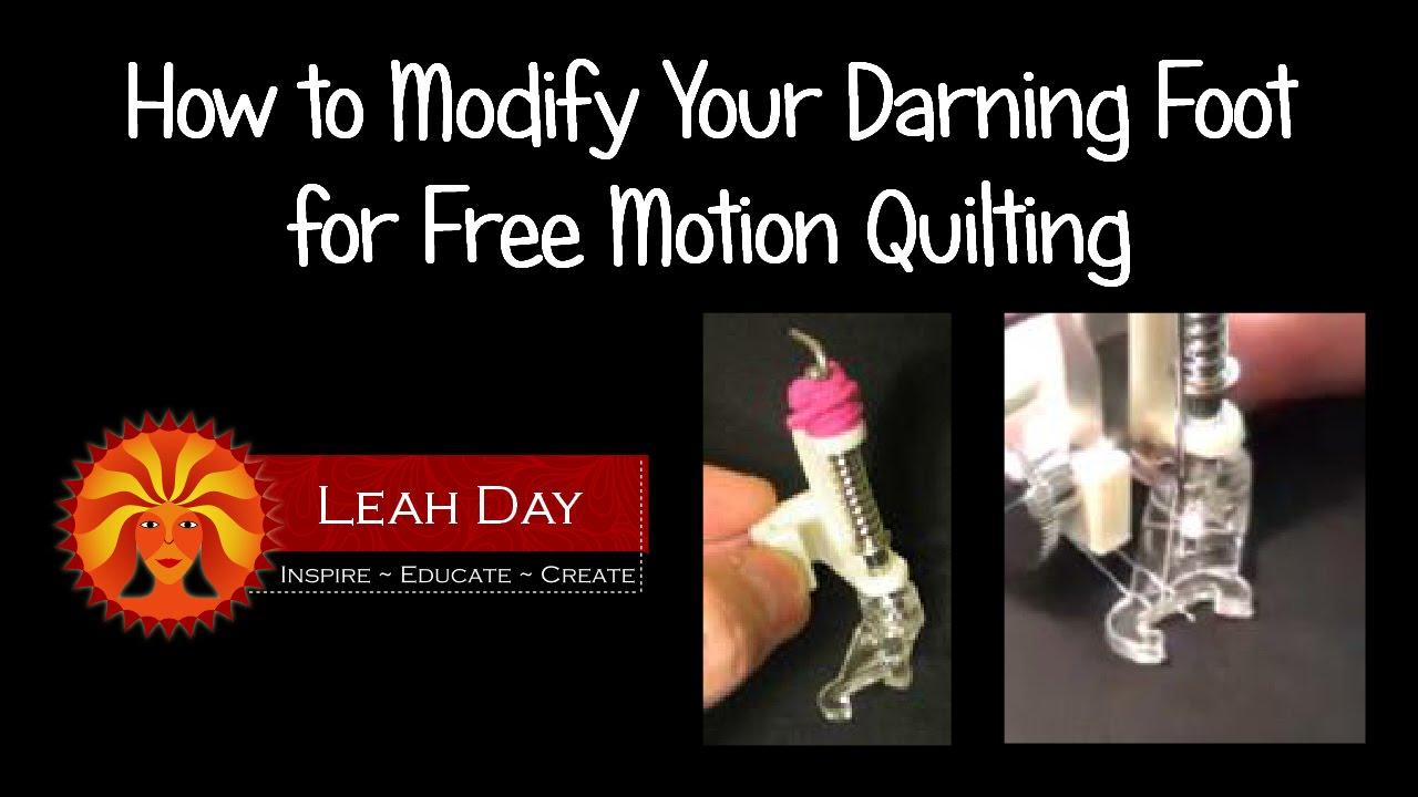 Modify Your Darning Foot for Free Motion Quilting on a Home ... : universal free motion quilting foot - Adamdwight.com