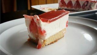 Fraisier ~gluten Free Strawberry Mousse Cake (no Eggs, Vegan)