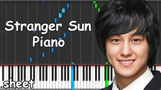 Boys Over Flowers - Stranger Sun Piano midi