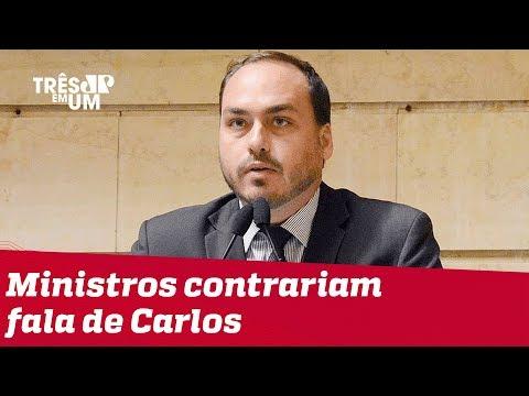 Ministros do STF contrariam fala de Carlos Bolsonaro sobre democracia