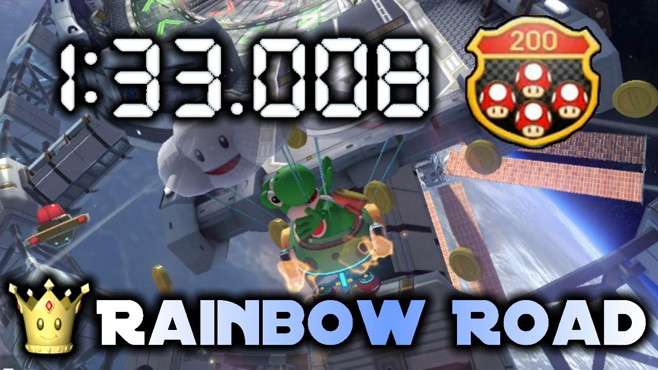 American Record, 2nd Worldwide | Rainbow Road (200cc) 1:33.008 | Mario Kart 8 Deluxe
