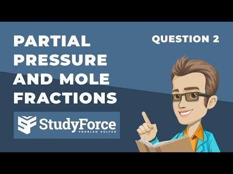 ⚗️ Partial Pressure and Mole Fractions (Question 2)