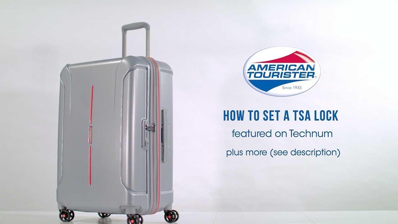 8096d7beb American Tourister Technum - How to set the TSA lock code - YouTube