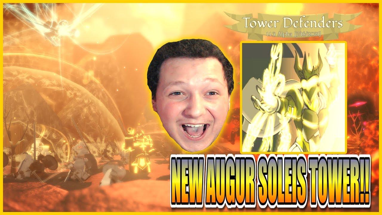 NEW AUGUR SOLEIS TOWER!! GODLIKE TOWER!!😱TOWER DEFENDERS UPDATE!