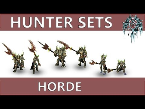 WOW Classic: Hunter Horde All Sets And Animations