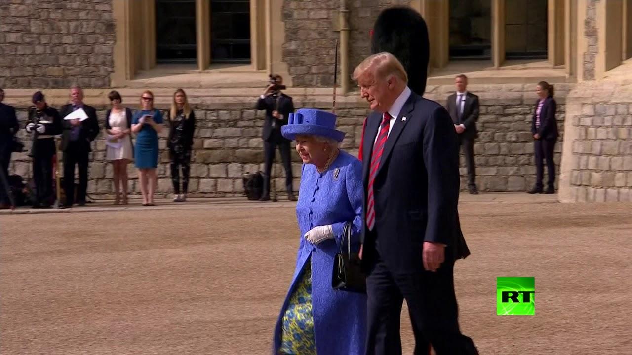 مراسم استقبال الملكة إليزبيث الثانية للرئيس الأمريكي دونالد ترامب وقرينته ميلانيا