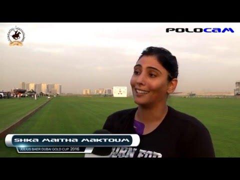 Sheikha Maitha Bint Mohammed Bin Rashid Al Maktoum Interview Julius Baer Gold Cup 2016