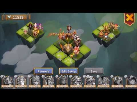 Lost BattleField Treantaur Revives Full Team For The Win Castle Clash