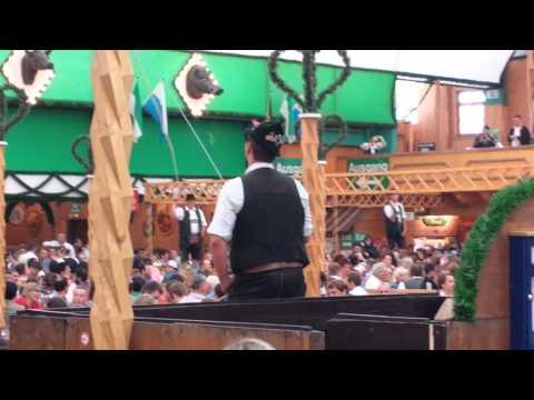 German Whip Cracking at 2014 Oktoberfest in Munich
