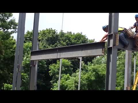 Steel Beam Installation, July 2013; South Hadley Public Library Building Project