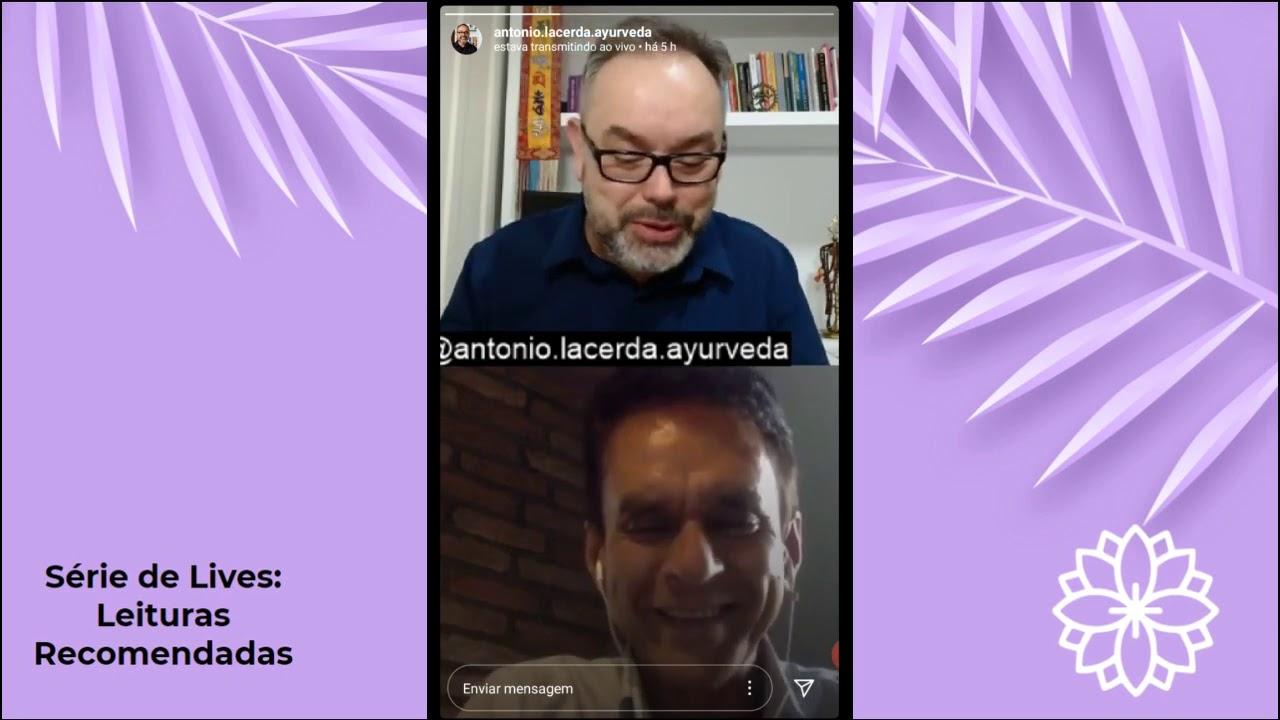"""Live Leituras Recomendadas - Livro """"Ayurveda, Saúde e Longevidade"""""""
