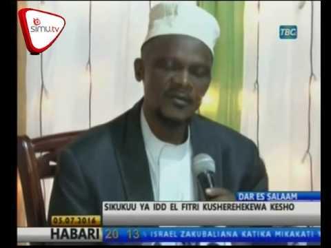 Sheikh Atangaza Kesho Ni Sikukuu Ya Eid El Fitr